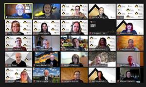 2021 Alumni Awards Event Screenshot