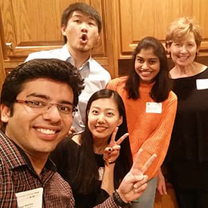 Chancellor Horrell hosts students for CU at the Table meal