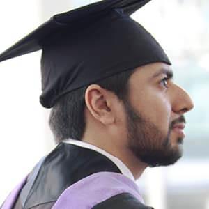 Fahad Alhammadi profile in commencement cap