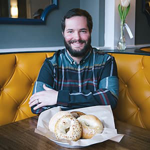 Josh Pollack with Bagels