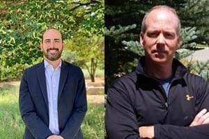 Headshots of Scott Bookman and Geoff Butler side-by-side